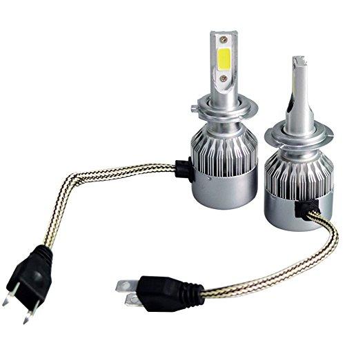 ZREAL C9 - Faro LED para Coche H1 H4 H7 H11 9005 9006 110 W 20000 LM, Color Blanco, H7