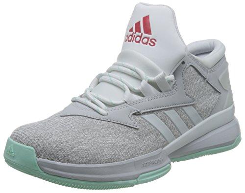 Adidas Street Jam Ii, Scarpe da Basket Uomo, Multicolore (Lgreyh/Rayred/Icegrn), 43 1/3 EU