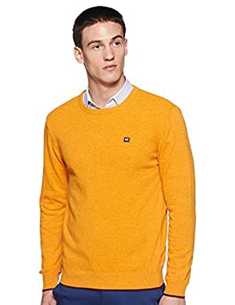 Byford By Pantaloons Men's Sweater (110033474_Mustard_M)