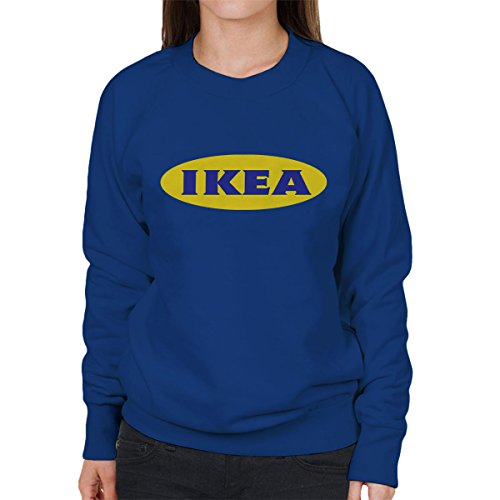 Ikea Logo Yellow Background Womens Sweatshirt Royal Blue