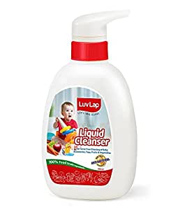 Luvlap Anti-Bacterial Baby Bottles Accessories and Vegetable Liquid Cleanser, 500ml