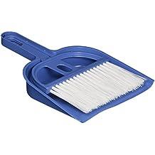 Mini scopa con paletta per pulizia tastiere e scrivanie,set blu e (Flessibile Broom)