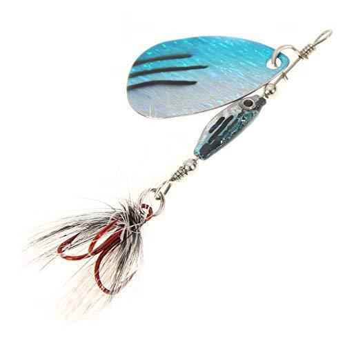ahomi Spinner Löffel Laser Rotierenden 7g 9,5 cm Künstliche Fischköder Pailletten Köder (Blau) - Fish Net Bait