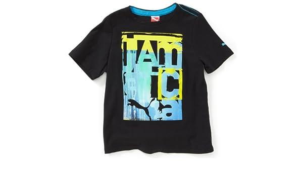 PUMA Jamaica Fun T Shirt pour garçon Coton Biologique Noir