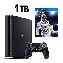 SONY PS4 SLİM 1TB OYUN KONSOLU + PS4 FİFA 18 - FİFA 2018 TÜRKÇE