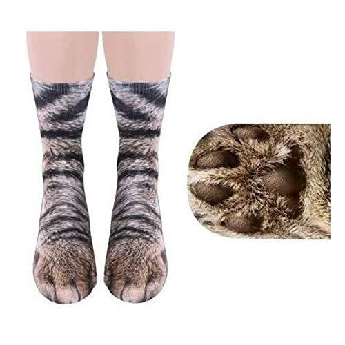 MeiPing Unisex Erwachsener Nette Miezekatze-Katzen-Tatzen-Socken, Tierpfote 3D Simulationsdruck Mannschaftssocken, Für Frauen, Männer