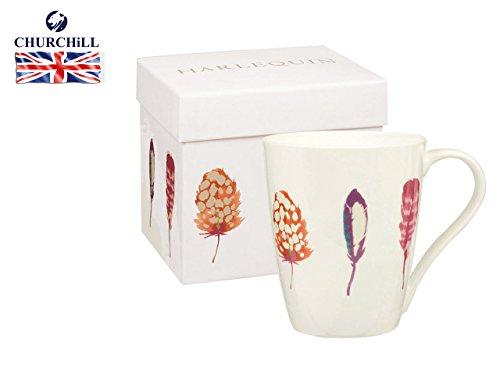 Harlequin Aspen Tasse Segge Papaya Geschenk-Box, Multi Churchill Fine China