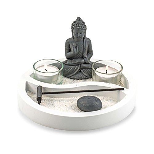Pajoma 20066 Yin Yang - Set de Velas con Buda, Altura: 19,5 cm