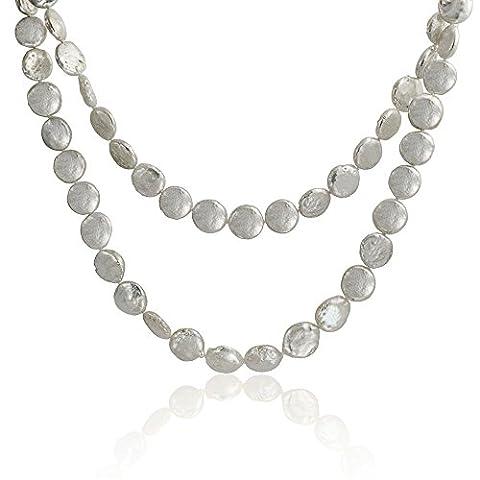 Bling Jewelry de perles de culture blanche