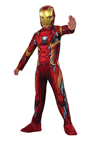Iron Man - Classic Civil War, disfraz para niños, talla M (Rubie's Spain 620581)