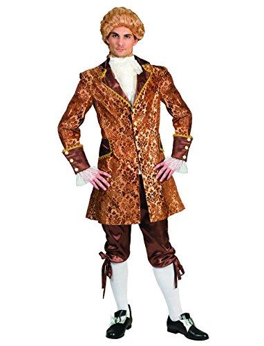 Kostüme Prinz Renaissance (Kostüm Conte Amadeo Herren Barock Rokoko Graf Größe 60/62 Renaissance gold braun Adel Monsieur Karneval Fasching)