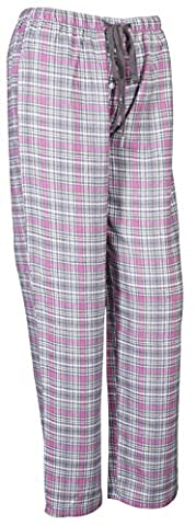 Ladies Soft Lounge Pants Bottoms Pyjamas Nightwear Checked Flannel Pyjama