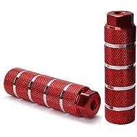 Helaryfreemear Clavijas de Bicicleta, Aleación de Aluminio Antideslizante Patas de Bicicleta del pie de Plomo Las Clavijas de BMX encajan en los Ejes de 3/8 Pulgadas (Rojo)