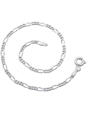 Figaro Armband 925 Sterling Silber rhodiniert 2,3mm breit 19cm lang Silberkette Armkettchen