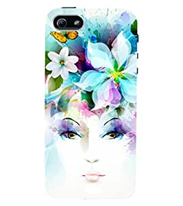 D KAUR Elegent Lady Back Case Cover for Apple I Phone 5S::Apple I Phone 5S