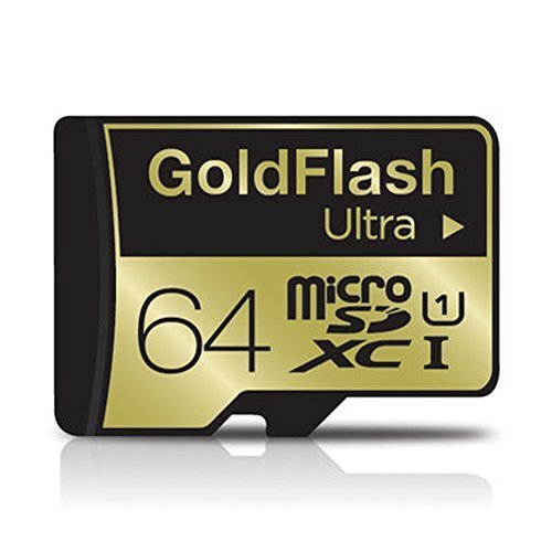 goldflash tarjeta de memoria Micro SDXC UHS-I Ultra Tarjeta de memoria para Nikon, Olympus Extreme 64GB CLASS10TLC