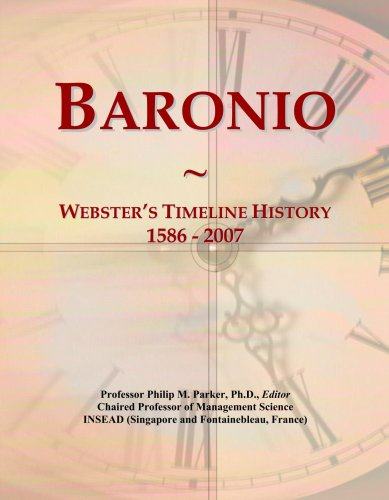 Baronio: Webster's Timeline History, 1586 - 2007