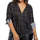 Damen Tops Bluse SUNNSEAN Frauen Langarm Schwarz Streifen V-Ausschnitt Tuniken T-Shirt Lässige Gedruckt Streetwear Mädchen Beiläufige Kleidung