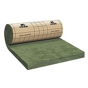 URSA - Isolation murs par lintérieur - Rouleau laine de verre URSA PRK 32 TERRA revêtu kraft - Ep. 160mm - 3,24m² - R 5
