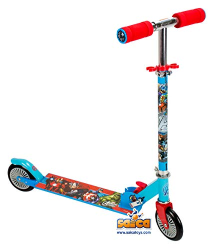 The Spectacular Spider-Man-Scooter con 2 Ruote, Saica Toys 9424