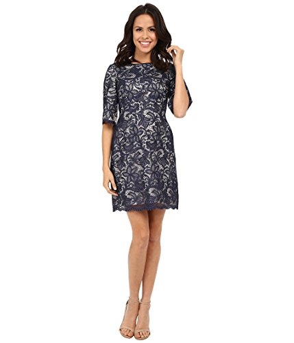 Eliza J Womens Wide Elbow Sleeve Fit and Flare