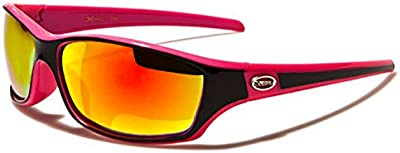 Xloop Gafas de Sol - Deporte - Polideportivo - Mtb - Esquí - Snowboard - Motocicleta - Cyclismo - Kitesurf / Mod. 5340 Rosa Negro / Tamaño único Adultos / 100% de protección UV400