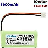 Kastar 1-PACK AAAX2 2.4V EH 1000mAh Ni-MH Rechargeable Battery For BT184342 BT284342 BT18433 BT28433 BT-1011 BT-1022 BT-1031 Vtech CS6229 DS6301 Uniden Wxi3077 ECT4066 DECT4096 Motorola Cordless Phone