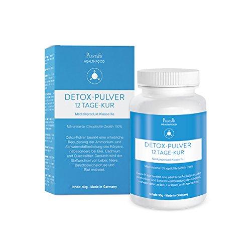 Zeolith Detox Pulver By Plantavis ® I Aktive Entgiftung Mit Zertifiziertem Medizinprodukt Made In Germany I 90g
