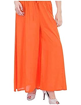 Indian Handicrfats Export Meoby Relaxed Women Orange Trousers