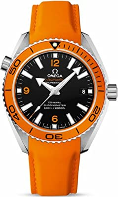 Omega Seamaster Planet Ocean Automatic Black Dial Orange Rubber Mens Watch 23232422101001