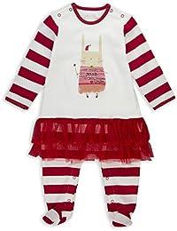The Essential One - Baby-Mädchen Weihnachten Strampler - Ballerina Tutu - Creme / Rot - EO242