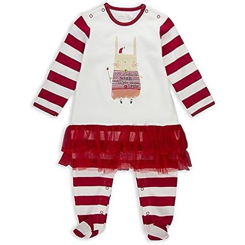 The Essential One - Bebé-Niña Pijama de Navidad conejito - Crema / Rojo - EO242