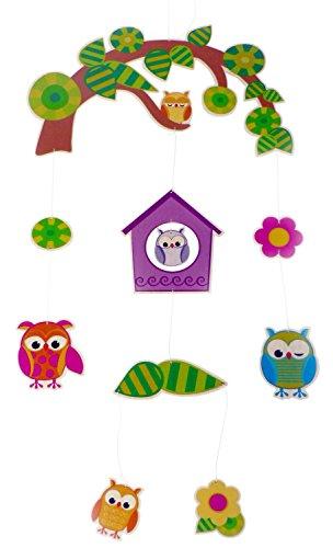 Hess Holzspielzeug 10262 - Mobile Eule (Baby Mobile Eule Für Kinderbett)