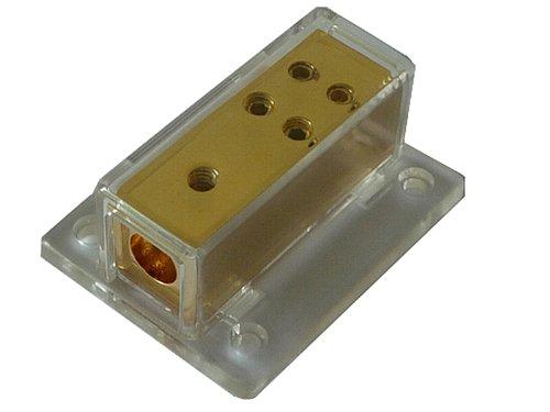 EHO Strom/Spannungsverteiler 1 auf 4 gold, EHOPB1448