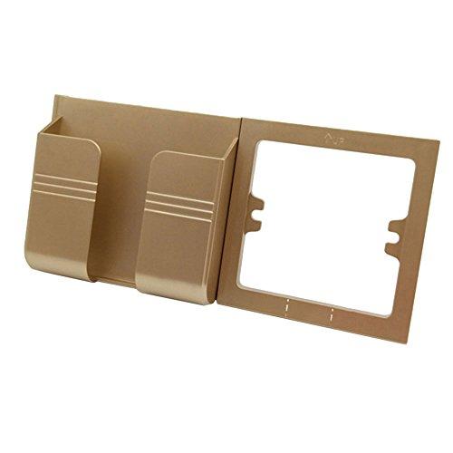 Hanbaili Universal-Handy-Ständer Gold, Wandhalterung Ladeklammer, für alle iPhone, Samsung, Android-Modelle, iPod MP3 MP4 Player, gelten für 86 Typ Switch Socket