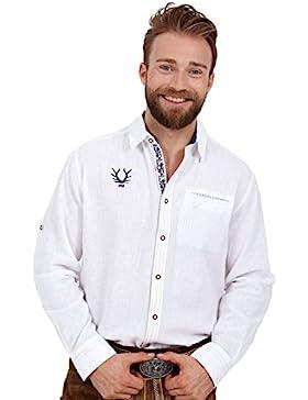 Michaelax-Fashion-Trade Krüger - Herren Trachtenhemd in Weiß, Jannis (95112-1)