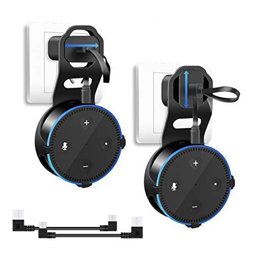 Wandhalterung Ständer für Amazon Echo Dot 2. Generation, Wonsidary 2 Stück Alexa Echo Halterung Platzsparend Zubehör für Smart Home Lautsprecher für Küche Bad und Schlafzimmer