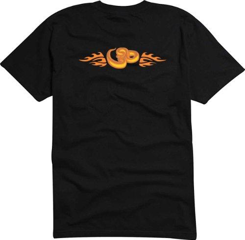 T-Shirt Herren Schlange mit Carving-Flügel Schwarz