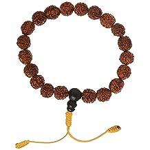 Hand-Mala mit Rudraksha beads - Armband buddhistische Hand-Gebetskette mit 10 mm Perlen