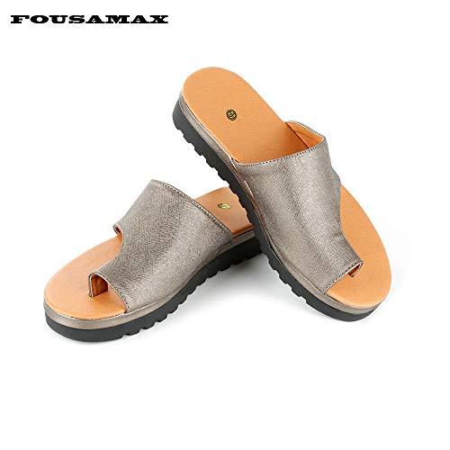 Fousamax Bunion Splints, Damen Big Toe Hallux Valgus Unterstützung Plattform Sandale Schuhe für die Behandlung