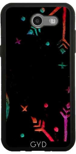 custodia-silicone-per-samsung-galaxy-j3-2017-sm-j327-natale-pastello-stelle-by-dakinisa