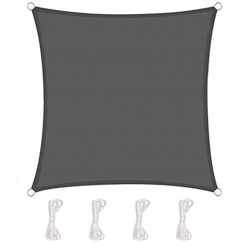 TOPLUS Tenda a Vela Parasole Rettangolare 2 x 2 Metri Protezione Raggi UV per Giardino, terrazza, Campeggio