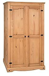 Mercers Furniture Corona 2 Door Flat Top Wardrobe
