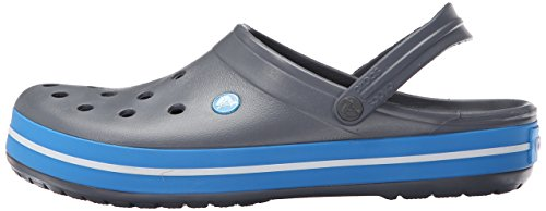 crocs Crocband Unisex - Erwachsene Clogs & Pantoletten Charcoal/Ocean