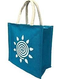 Regiis Jute Bag with Zipper Closure (Size, 10X9X4-inches)