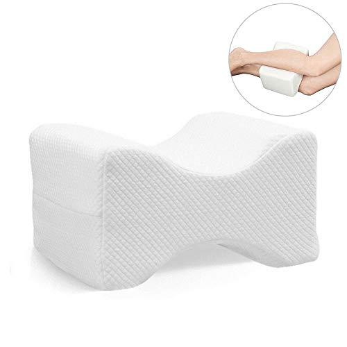 Kontur-knie Kissen (Knie-Stützkissen für Seitenschläfer, Ischiasnerv-Schmerz-Entlastung-Kissen, Gedächtnis-Schaum-Bein-Kissen-Kontur Keil-Kissen mit waschbarer Abdeckung für Rückenschmerzen, Bein-Schmerz, Schwangerschaft)