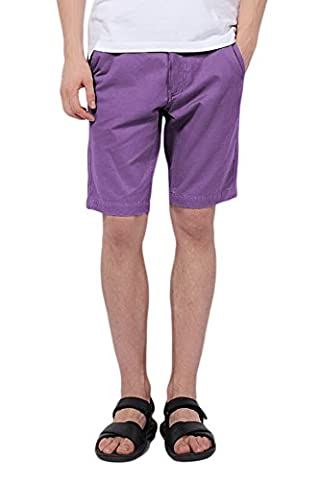 Pau1Hami1ton PH-01 Mens Gray Slim Fit Shorts (32 Purple)