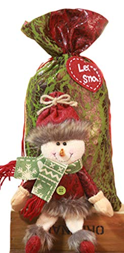 Zalock Christmas Decorations Creative Santa Claus Gift Bags Christmas Candy Bag Christmas Nice Decoration for Festival Banquet Party