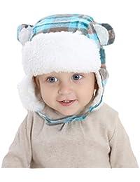 Casquettes Caches-Oreilles Enfant Bébé Fille Garçon Chapeau Automne Hiver Chaud Chapeau Russe