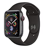 Apple Watch Series 4 (GPS + Cellular) 44 mm Aluminiumgehäuse, Space Grau, mit Sportarmband, Schwarz (Bild: Amazon.de)
